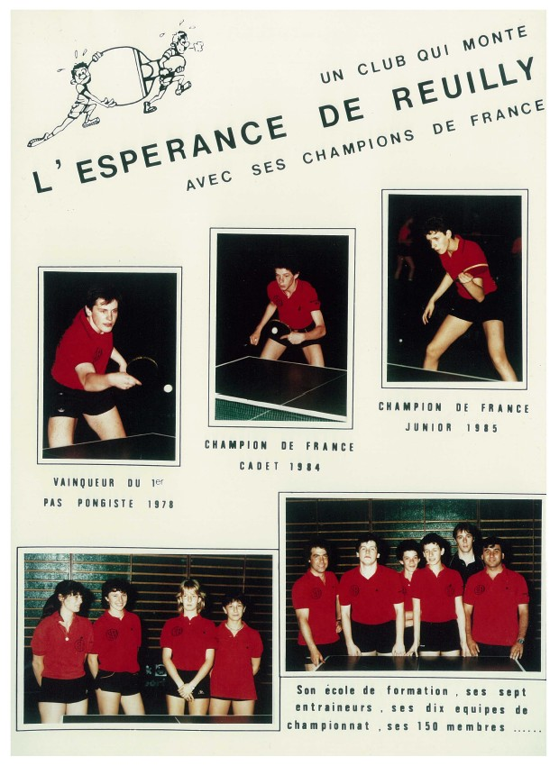 Historique paris tennis de table esp rance de reuilly - Club tennis de table paris ...